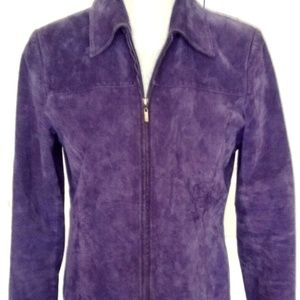 Pritti Purple WASHABLE suede zipper jacket Blazer